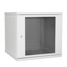 Шкаф настенный 12U 600*450 серый дверь-стекло