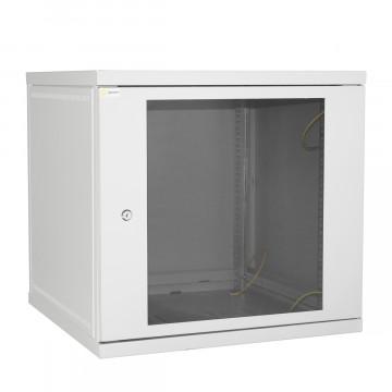 Шкаф настенный 12U 600*600 серый дверь-стекло