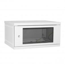 Шкаф настенный 6U 600*450 серый дверь-стекло