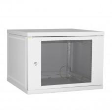 Шкаф настенный 9U 600*450 серый дверь-стекло