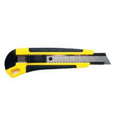 Инструмент нож с сегментированным лезвием 18мм, корпус ABS пластик обрезиненный