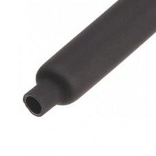 Термоусаживаемая трубка 6/2 черная (50м/упак) клеевая