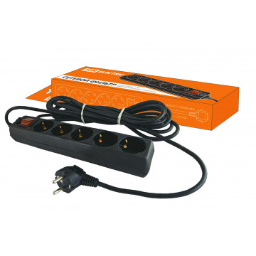 Фильтр сетевой СФ-05В - выключатель, 5 гнезд, 1,5 метра, с заземлением